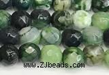 CAA5506 15 inches 6mm faceted round fire crackle agate beads