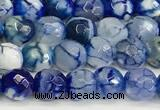 CAA5507 15 inches 6mm faceted round fire crackle agate beads