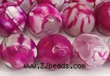 CAA5521 15 inches 10mm faceted round fire crackle agate beads