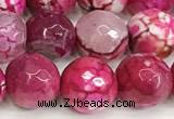 CAA5522 15 inches 10mm faceted round fire crackle agate beads