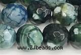 CAA5529 15 inches 10mm faceted round fire crackle agate beads