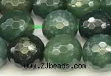 CAA5746 15 inches 8mm faceted round moss agate beads
