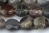 CAA5890 15 inches 8mm coin botswana agate gemstone beads