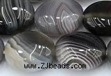 CAA5892 15 inches 10*12mm oval botswana agate gemstone beads