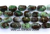 CAU558 15 inches 15*23mm - 20*28mm faceted nuggets Australia chrysoprase beads