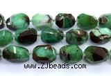 CAU559 15 inches 20*30mm - 23*33mm faceted nuggets Australia chrysoprase beads