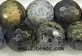 CDU382 15 inches 10mm faceted round dumortierite beads