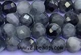 CEE562 15 inches 4mm faceted round eagle eye jasper beads