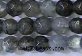 CLB1094 15.5 inches 4mm faceted round labradorite gemstone beads