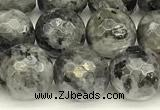CLB1132 15 inches 10mm faceted round black labradorite beads