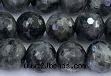 CLB1176 15 inches 8mm faceted round black labradorite beads