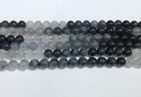 CRU1001 15.5 inches 8mm round mixed rutilated quartz beads