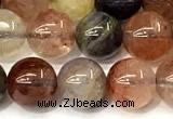 CRU1061 15 inches 8mm round mixed rutilated quartz beads